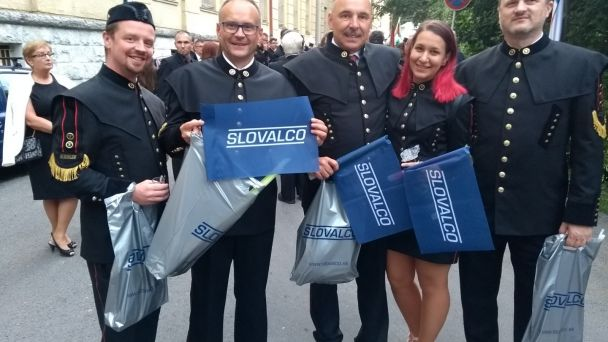 Na oslavách Dňa baníkov, hutníkov, naftárov a geológov  bolo opäť aj Slovalco