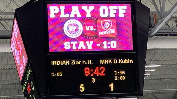 2. zápas Play Off Indiani vs. Dolný Kubín
