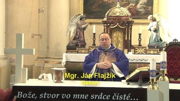 Svätá omša z piatej pôstnej nedele 29.marca