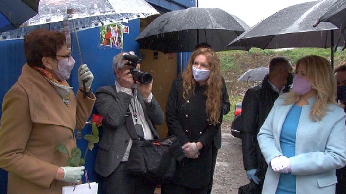 Prezidentka navštívila v Žiari osadu Pod Kortínou